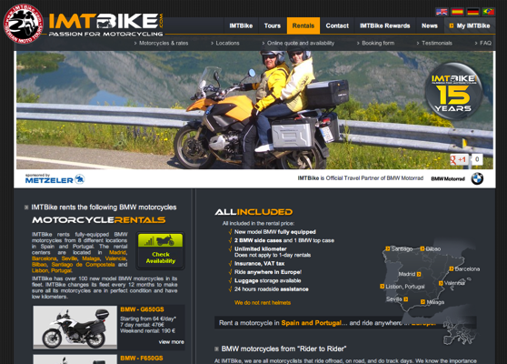 motorcycle hire france